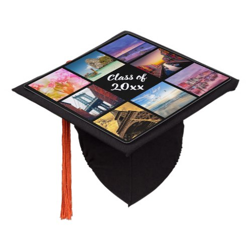 Custom Instagram Photo Collage Personalized Year Graduation Cap Topper