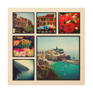 Custom Instagram Photo Collage Print on Wood