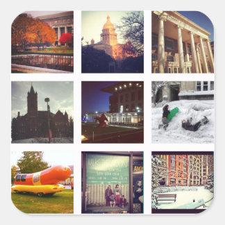 Custom Instagram Photo Collage Square Sticker
