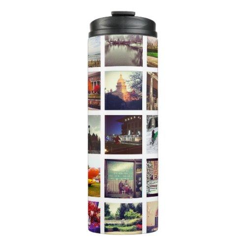 Custom Instagram Photo Collage Thermal Tumbler