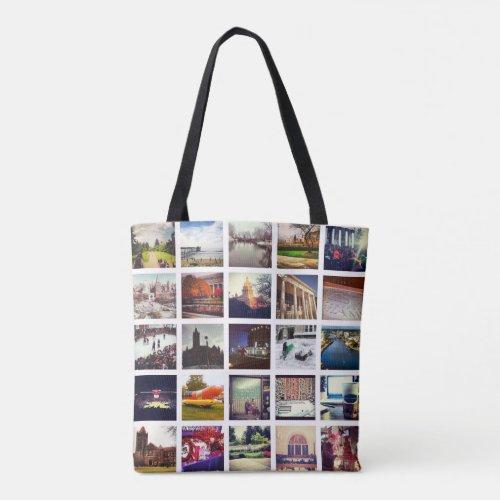 Custom Instagram Photo Collage Tote Bag