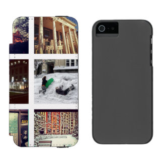 Custom Instagram Photo Collage Wallet Case For iPhone SE/5/5s