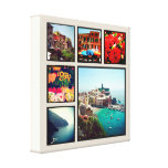 Custom Instagram Photo Collage Wrapped Canvas Art<br><div class='desc'>Add six of your favorite Instagram photos to create a beautiful unique photo collage wrapped canvas print. Click Customize It to move photos and personalized with your own text to create a unique one of a kind design. Great gift for family and friends!</div>