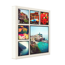 Custom Instagram Photo Collage Wrapped Canvas Art
