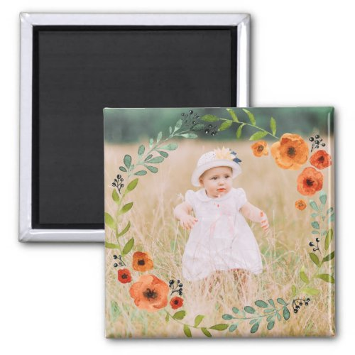 Custom Instagram Photo  Create Your Own Floral Magnet