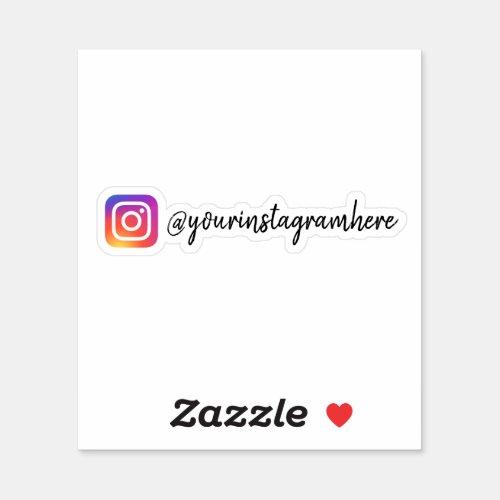 Custom Instagram Social Media Sticker