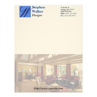 Custom Interior Design Stationary Letterhead