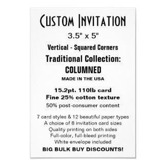 "Custom Invitation 3.5"" x 5"" COLUMNED"