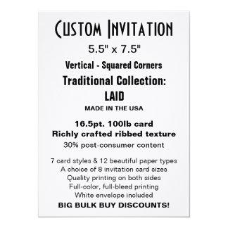 """Custom Invitation 5.5"""" x 7.5"""" LAID"""