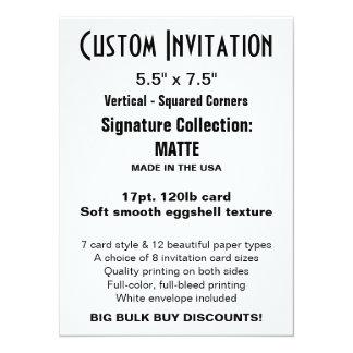 "Custom Invitation 5.5"" x 7.5"" MATTE"