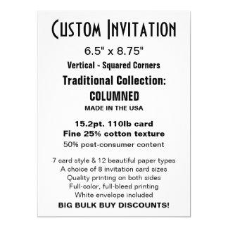 "Custom Invitation 6.5"" x 8.75"" COLUMNED"