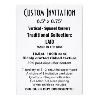 """Custom Invitation 6.5"""" x 8.75"""" LAID"""