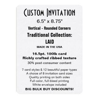 "Custom Invitation 6.5"" x 8.75"" LAID Rounded"