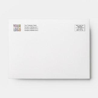 Custom Invitation Envelope A6 Logo Address Indicia