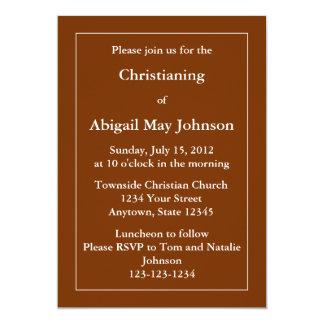 """Custom Invitation or Announcement - Dark Brown 5"""" X 7"""" Invitation Card"""