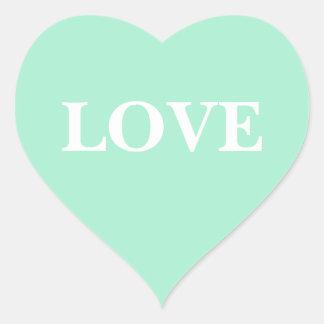 Custom Invite Light Mint Heart Sticker
