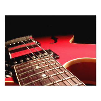 CUSTOM INVITES - Red Electric Guitar
