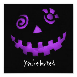 CUSTOM INVITES - Spiral Eye Pumpkin Jack-O-Lantern