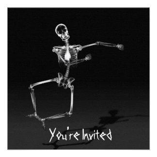 CUSTOM INVITES - X-Ray Skeleton Joy Leap - B W