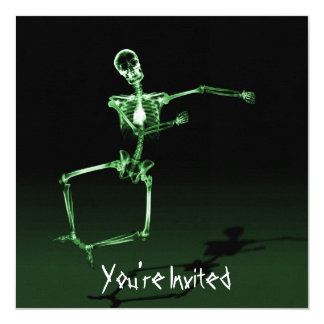 CUSTOM INVITES - X-Ray Skeleton Joy Leap - Green