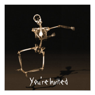 CUSTOM INVITES - X-Ray Skeleton Joy Leap - Orange