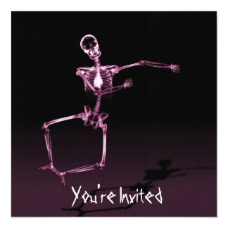 CUSTOM INVITES - X-Ray Skeleton Joy Leap - Pink