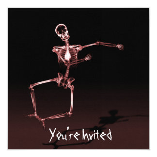 CUSTOM INVITES - X-Ray Skeleton Joy Leap - Red
