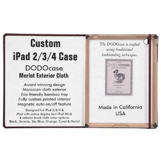 Custom iPad 2/3/4 Case - DODOcase Folio - Merlot