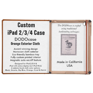 Custom iPad 2/3/4 Case - DODOcase Folio - Orange