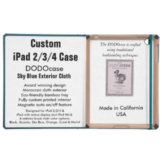 Custom iPad 2/3/4 Case - DODOcase Folio - Sky Blue