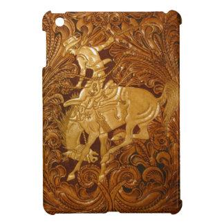 Custom iPad mini cover w/ tooled leather