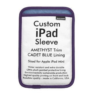Custom iPad Mini Sleeve - (Amethyst & Cadet Blue)