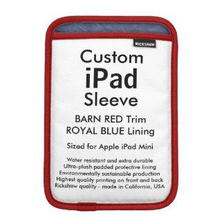 Custom iPad Mini Sleeve - (Barn Red & Royal Blue)
