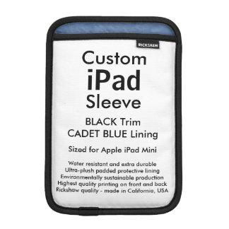 Custom iPad Mini Sleeve - (Black & Cadet Blue)