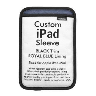 Custom iPad Mini Sleeve - (Black & Royal Blue)
