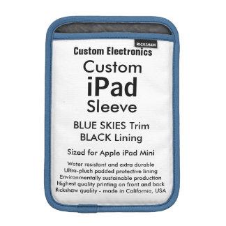 Custom iPad Mini Sleeve - (Blue Skies & Black)