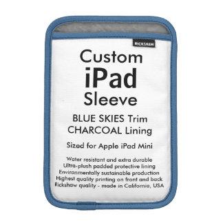 Custom iPad Mini Sleeve - (Blue Skies & Charcoal)