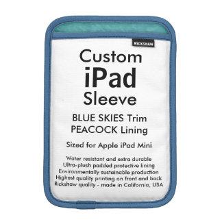 Custom iPad Mini Sleeve - (Blue Skies & Peacock)