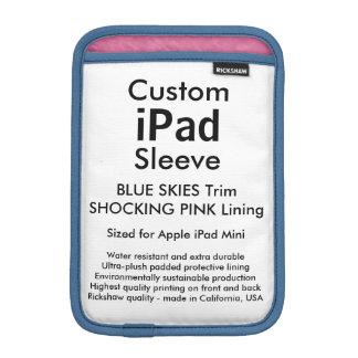 Custom iPad Mini Sleeve - (Blue Skies & Pink)