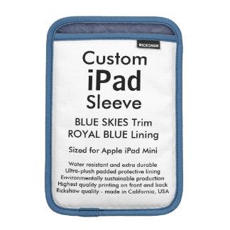 Custom iPad Mini Sleeve - Blue Skies & Royal Blue