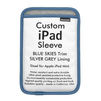 Custom iPad Mini Sleeve - Blue Skies & Silver Grey