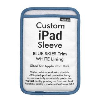 Custom iPad Mini Sleeve - (Blue Skies & White)
