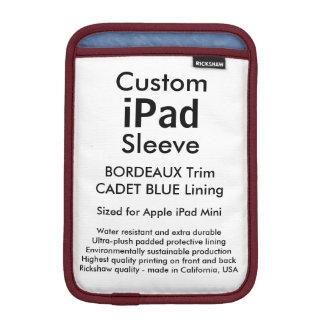 Custom iPad Mini Sleeve - (Bordeaux & Cadet Blue)
