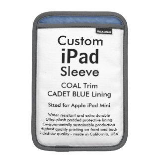 Custom iPad Mini Sleeve - (Coal & Cadet Blue)