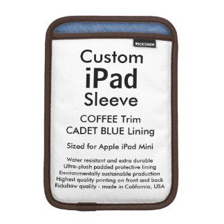 Custom iPad Mini Sleeve - (Coffee & Cadet Blue)
