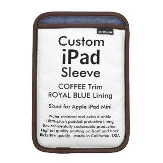 Custom iPad Mini Sleeve - (Coffee & Royal Blue)