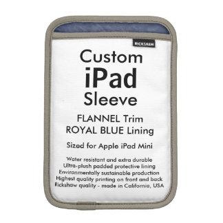 Custom iPad Mini Sleeve - (Flannel & Royal Blue)