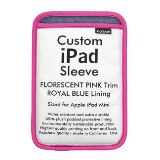 Custom iPad Mini Sleeve - (Florescent Pink & Blue)