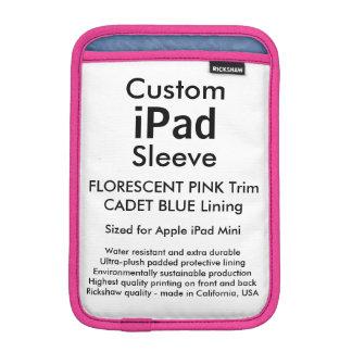 Custom iPad Mini Sleeve - Florescent Pink & Blue