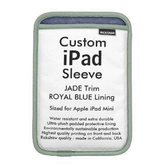 Custom iPad Mini Sleeve - (Jade & Royal Blue)